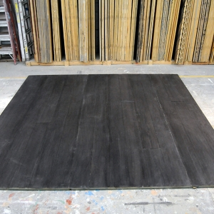 "SW21) 12'x10', 12' Overall Width, 6"" Planks, Espresso Stain on Birch Ply"